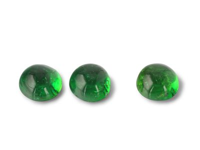 Chrome Tourmaline 4.5mm Round Cabochon 1st Grade (N)