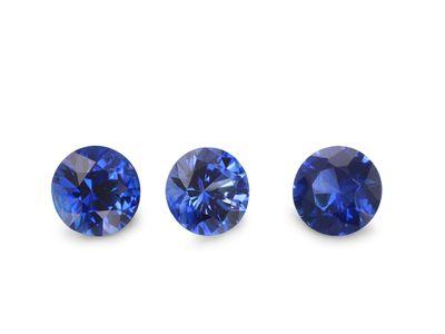 Ceylon Sapp 3.5mm Round Bri Blue GQ (E)