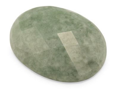 Jadeite Approx 40x30mm Oval Rose Cut (T)