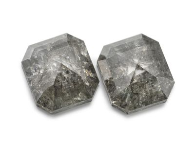 Diamond Salt & Pepper 6.85x4.3mm Em/c PAIR (N)