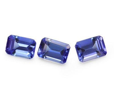 Tanzanite 6x4mm Emerald cut (E)