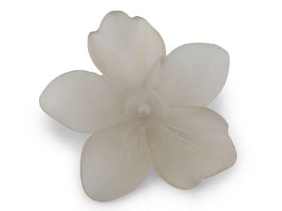 Smoky Quartz 44x40mm Carving Flower Matt w/ centre hole (N)