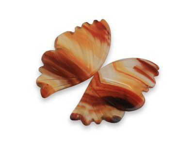 Agate Butterfly Wings Pair 20x10.5x10.5mm (N)