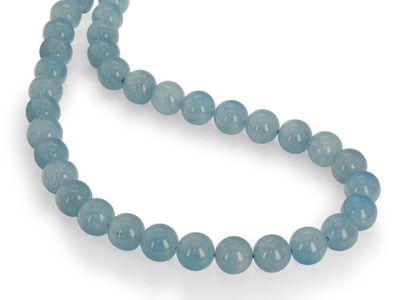 Beads Aquamarine 12mm Polished Round(N)