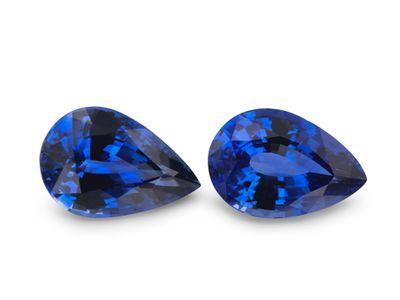 Sapphire Cey Bl 9x6mm Pear PAIR (E)