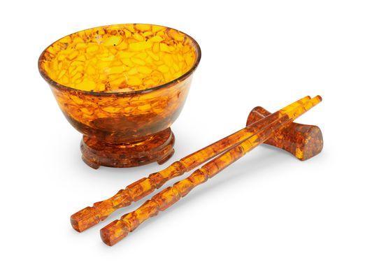 Amber bowl set light (T)
