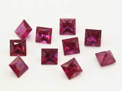 Ruby 3mm Sq/Prin Good Pink Red (E)