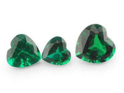 Hydrothermal Emerald 7mm Heart Shape (S)