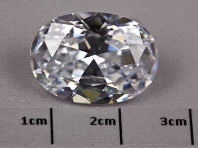 Cubic Zirconia 18x13mm Oval (S)