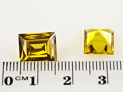 Synthetic Yellow Sapphire 11x9mm Baguette (S)