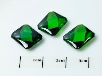 Syn Green CZ Buff-Top 12x10mm Emerald (S)