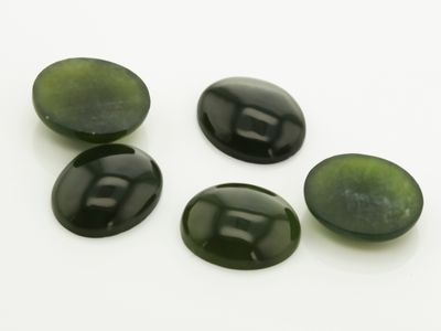 Nephrite Jade 12x10mm Oval Cabochon (N)