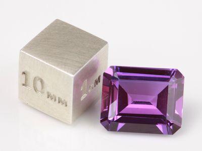 Synthetic Sapphire Purple 12x10mm Emerald Cut (S)