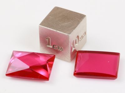 Ruby Syn Pink Red Buff-Top 12x10mm Bag (S)