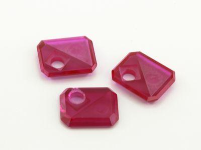 Syn Ruby Pink 12x10mm Emerald BT Corner CS w/ Empty Tri Hole (S)