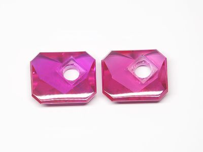 Syn Ruby Pink 12x10mm Emerald BT Corner CS (S)