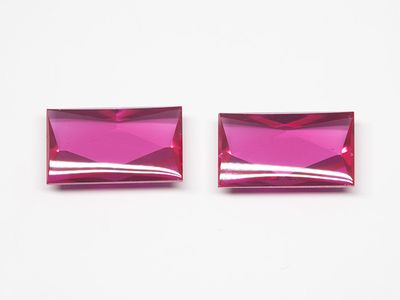 Syn Ruby Pink 12x7mm Rect BT (S)
