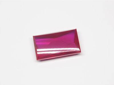 Syn Ruby Pink 14x8mm Rect BT (S)