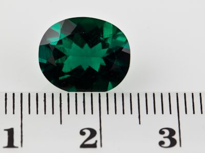 Hydrothermal Emerald 12x10mm Oval  (S)