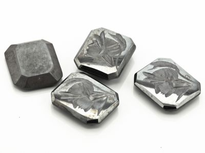 German Cut Haematite 12x10mm Octagonal Intaglio (N)