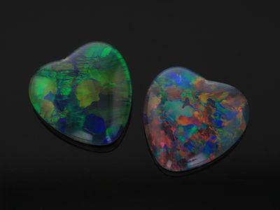 Opal Triplets 10mm Heart  Gem Grade