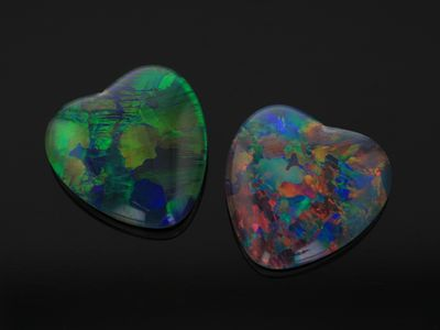 Opal Triplets 10mm Heart  Gem Grade
