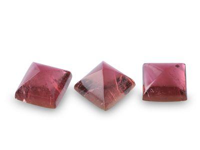 Pink Tourmaline 7mm SQ Cabochon  (N)