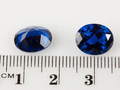 Synthetic Bright Blue Spinel 11x9mm Oval (S)