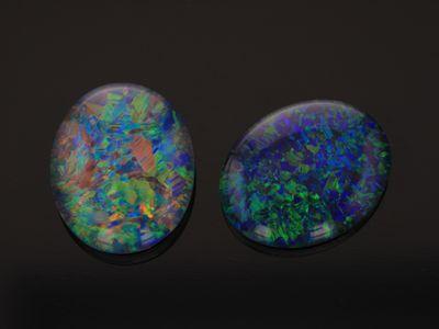 Opal Triplet 11x9mm Oval