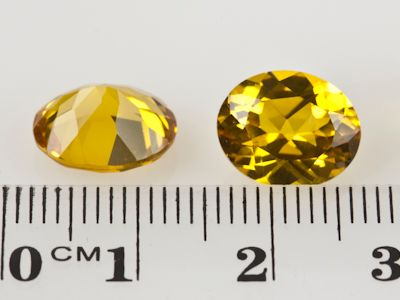 Synthetic Yellow Sapphire 11x9mm Oval (S)
