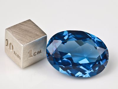 Synthetic Blue Spinel Zircon 20x15mm Oval