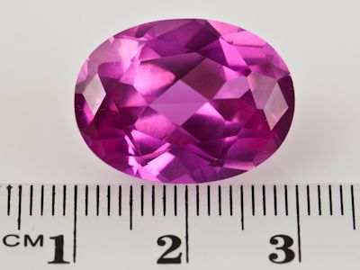 Synthetic Sapphire Pink 20x15mm Oval (S)