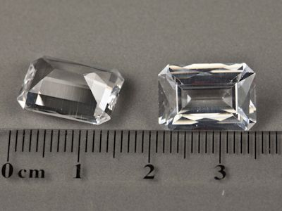 Synthetic White Spinel 14x10mm Emerald Cut (S)