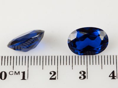 Synthetic Bright Blue Spinel 14x10mm Oval (S)
