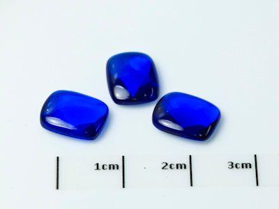 Bright Blue Syn Spinel Buff-Top 10x8mm Cushion (S)
