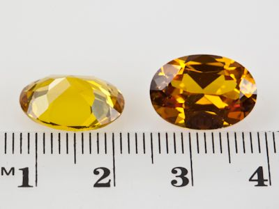 Synthetic Yellow Sapphire 14x10mm Oval (S)
