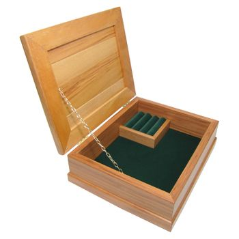 JEWELLERY BOX - RIMU - STD, FOREST GREEN