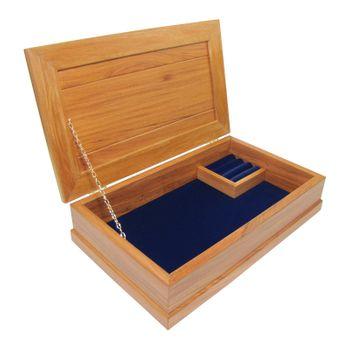 JEWELLERY BOX - RIMU - LARGE, ROYAL BLUE