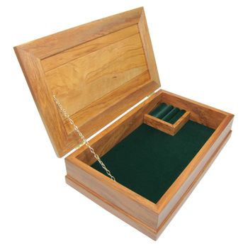 JEWELLERY BOX - RIMU - LARGE, FOREST GREEN