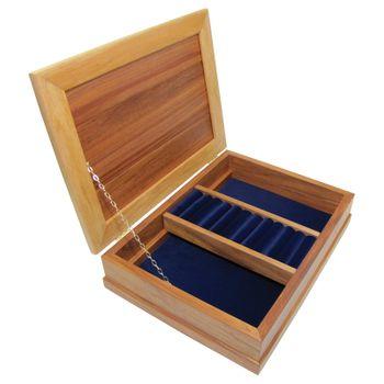 JEWELLERY BOX - RIMU - DELUXE, ROYAL BLUE