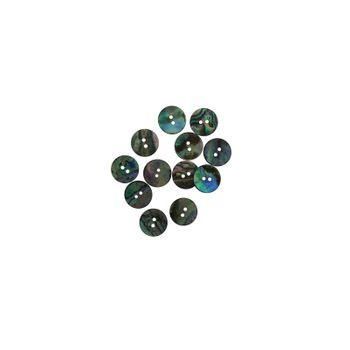 SHELL BUTTON - PAUA - 17.5MM [28L] (DOZ)