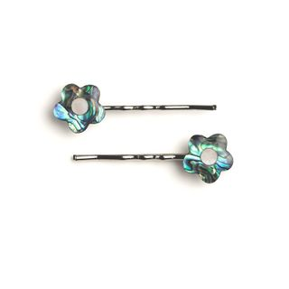 HAIR CLIP PAIR - PAUA FLOWER
