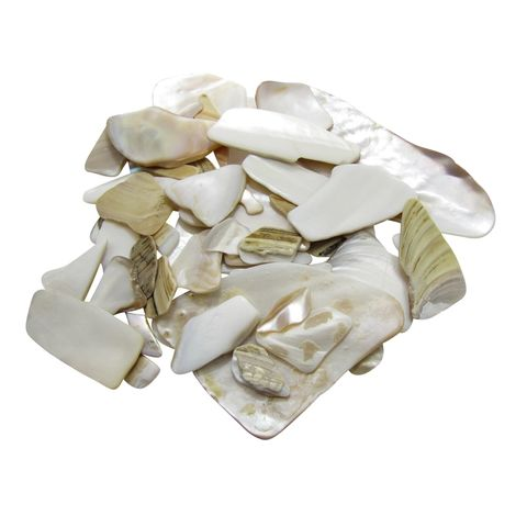 SHELL PIECES F/W MOP NATURAL - UNSORTED 1KG