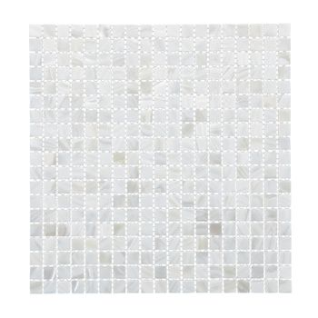 SOLID SHELL MOSAIC TILE - F/W MOP WHITE SQUARE - 15*15MM/305*305MM