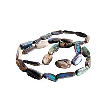 SHELL BEAD - PAUA NUGGET - LARGE (40PCS)