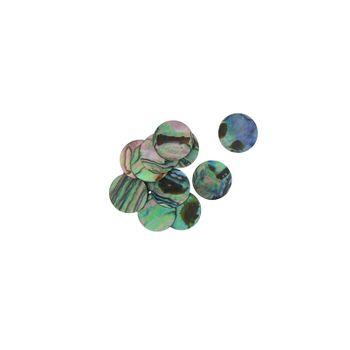 SHELL BLANK NATURAL CURVE, POLISHED, ORIGINAL BACK - PAUA - CIRCLE - 25MM [40L] (DOZ)