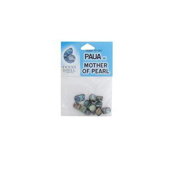 SHELL BEAD - PAUA NUGGET - SMALL (12PCS)