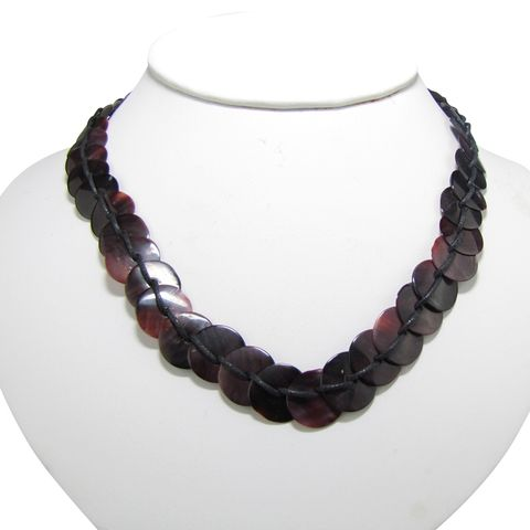 JN - LACED VIOLET OYSTER CHOKER