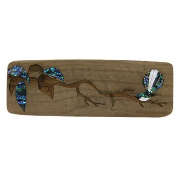 RECYCLEWOOD - PAUA FANTAIL ON A BRANCH