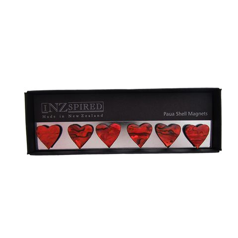MAGNET PAUA RED HEARTS